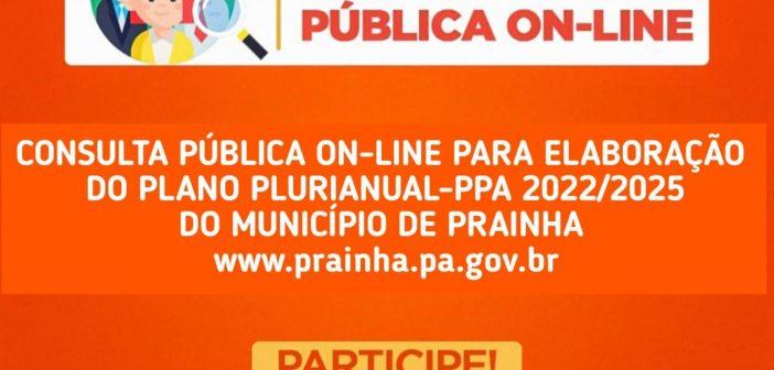 AUDIÊNCIA PÚBLICA ELETRÔNICA – PPA 2022/2025